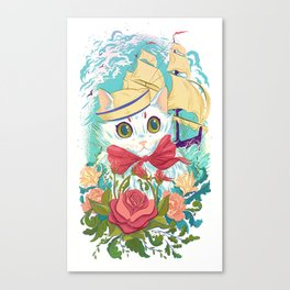 Sailor Kitty Canvas Print