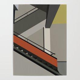 Stairway in bauhaus Dessau Poster
