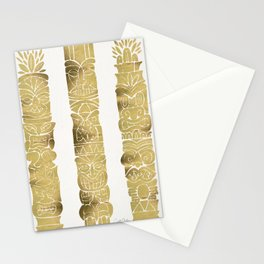 Tiki Totems – Gold Palette Stationery Cards