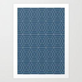 blue hex Art Print