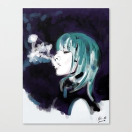 Smoking Colors. Canvas Print