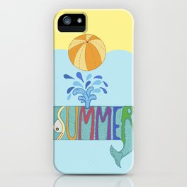 Whale summer iPhone Case