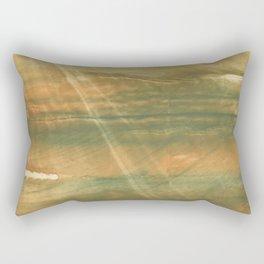 Brown green colored watercolor pattern Rectangular Pillow