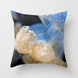 Underwater Macrophotography - Jellyfish Throw Pillow