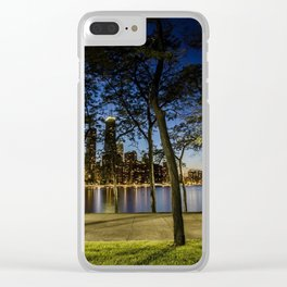 Enjoying the view Clear iPhone Case
