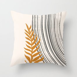 Botanical Mid Century Scandanavian  Throw Pillow