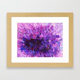 LOTUS BLOSSUM - Beautiful Purple Floral Abstract, Modern Decor in Eggplant Plum Lavender Lilac Framed Art Print