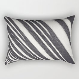 Black and white lines / textured abstract fine art photography print Rectangular Pillow