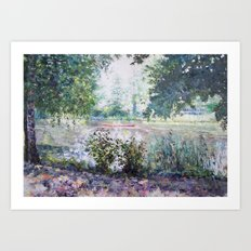 Spree Promenade Art Print
