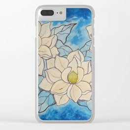 Magnolias for Kim Clear iPhone Case