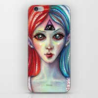 third eye iPhone & iPod Skins featuring Third Eye by Mary Nason (MiaSnow)