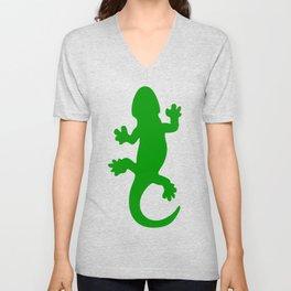 Green Lizard Unisex V-Neck