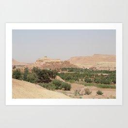 Ait-Ben-Haddou, in Ouarzazate province Art Print