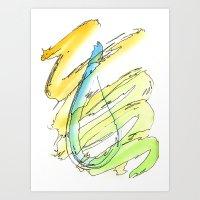Flow Series #15 Art Print