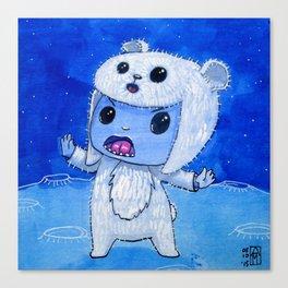 Moonkhin Iridum Snow Canvas Print
