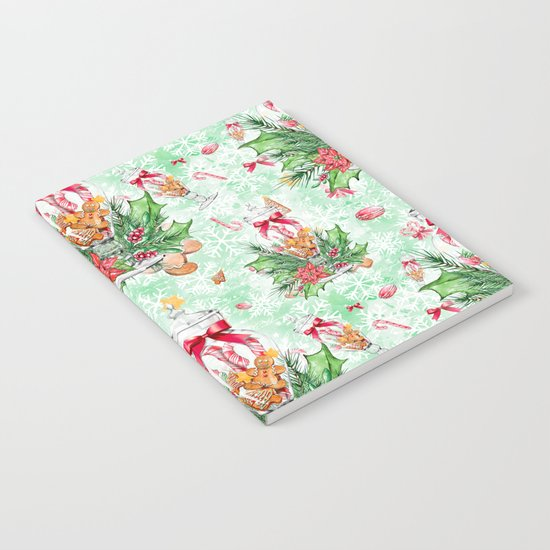 Christmas gingerbread candy cane #2 Notebook