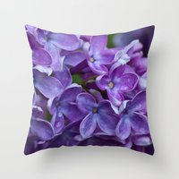 free shipping Throw Pillows featuring Lilac spring free shipping by Ordiraptus