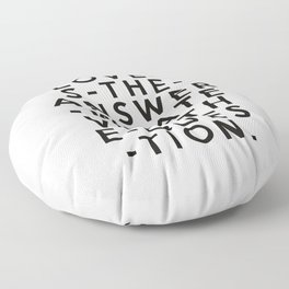 Love Is The Answer Floor Pillow