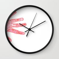 feet Wall Clocks featuring Feet by J. Fuller