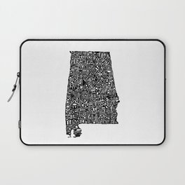 Typographic Alabama Laptop Sleeve