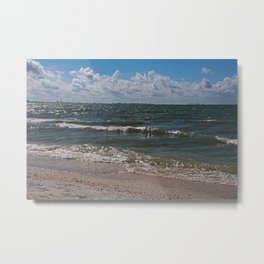 Sandcastle Kisses Metal Print