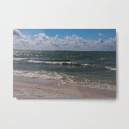 Sandcastle Kisses Metal Print