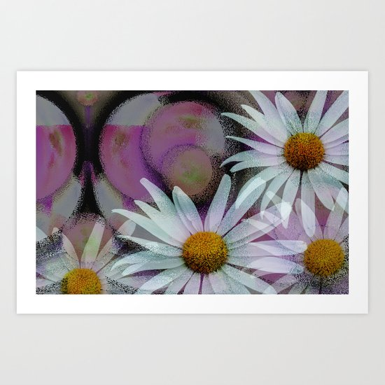 Expresions with Daisies Art Print