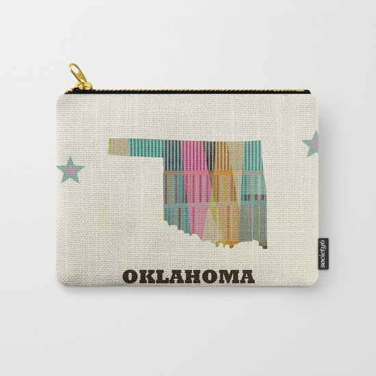 Oklahoma state map modern  Carry-All Pouch