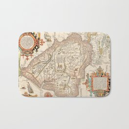 Antique Map of South America Bath Mat