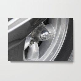 Wheel of vintage american car Metal Print