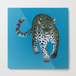 Leopardo the Leopard Metal Print