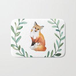 Fox Wreath Bath Mat