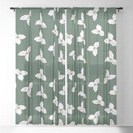 Trilliums Sheer Curtain