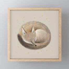 Swift Fox Sleeping Framed Mini Art Print