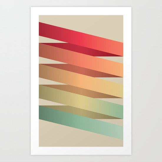 Colorful Ribbon Art Print