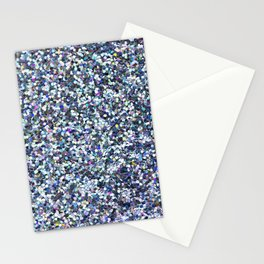Blue Glittering Sequins Stationery Cards