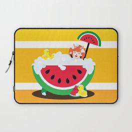 Watermelon Bath Laptop Sleeve