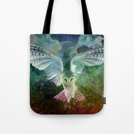 """Owl flight and spring night"" Tote Bag"