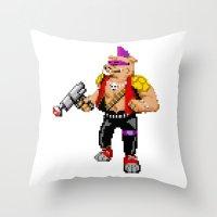 bebop Throw Pillows featuring Bebop by haydiroket