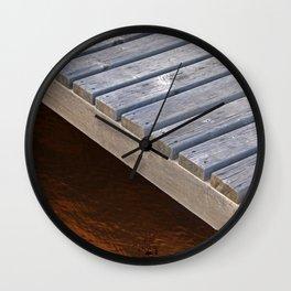 Wooden raft Wall Clock