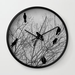 Murder Of Crows - Four Wall Clock