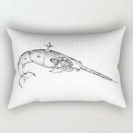 clockwork narwal Rectangular Pillow