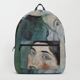 Stolen Art - Portrait of a Lady by Gustav Klimt Backpack