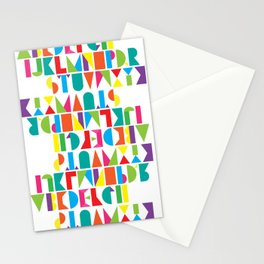 Alphabet Stationery Cards