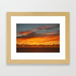 Mozambique Sunrise Framed Art Print