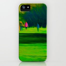 A walk in the park (Digital Art) iPhone Case