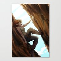 climbing Canvas Prints featuring Climbing  by Timtimsia