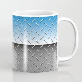 Brilliant Chrome Diamond Plate Metal Background Coffee Mug
