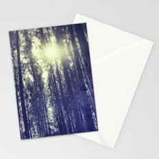 Sun through the forest Stationery Cards