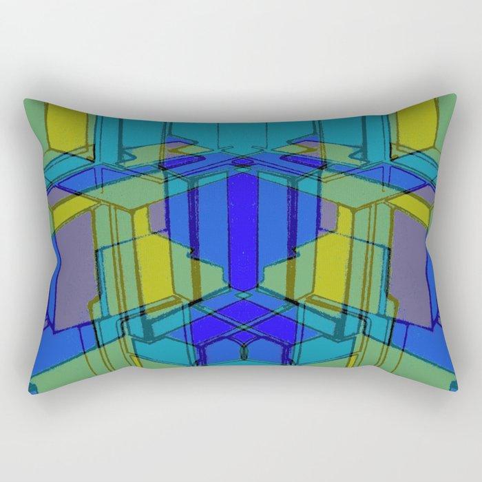Cube Geometric II Rectangular Pillow